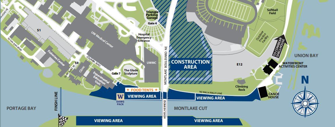 UW parking map